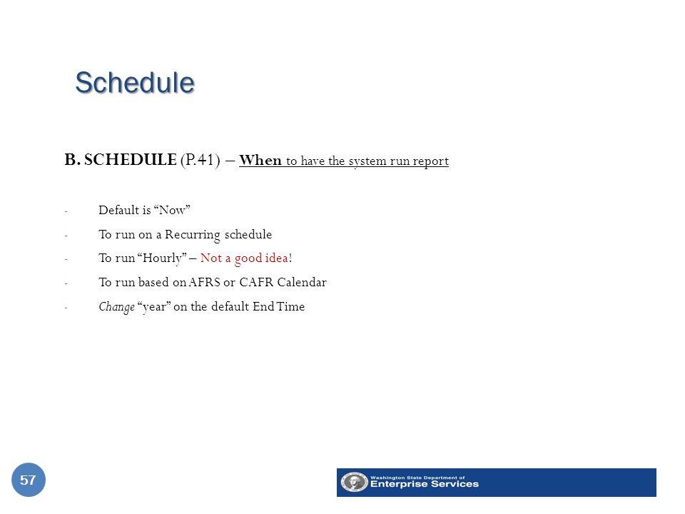 Schedule 57 B.