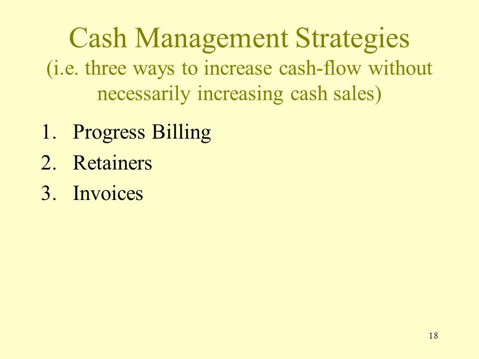 18 Cash Management Strategies (i.e.