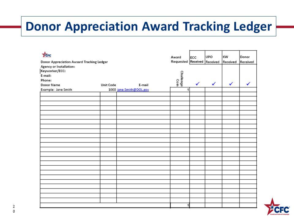 Donor Appreciation Award Tracking Ledger 20 Epledging Donor Confirmation Tracking LedgerEpledging Donor Confirmation Tracking Ledger