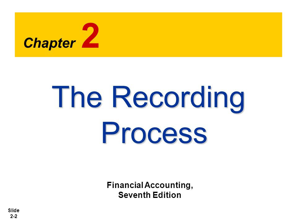 Slide 2-33 The Recording Process Illustrated Illustration 2-26 SO 6 Explain what posting is and how it helps in the recording process.