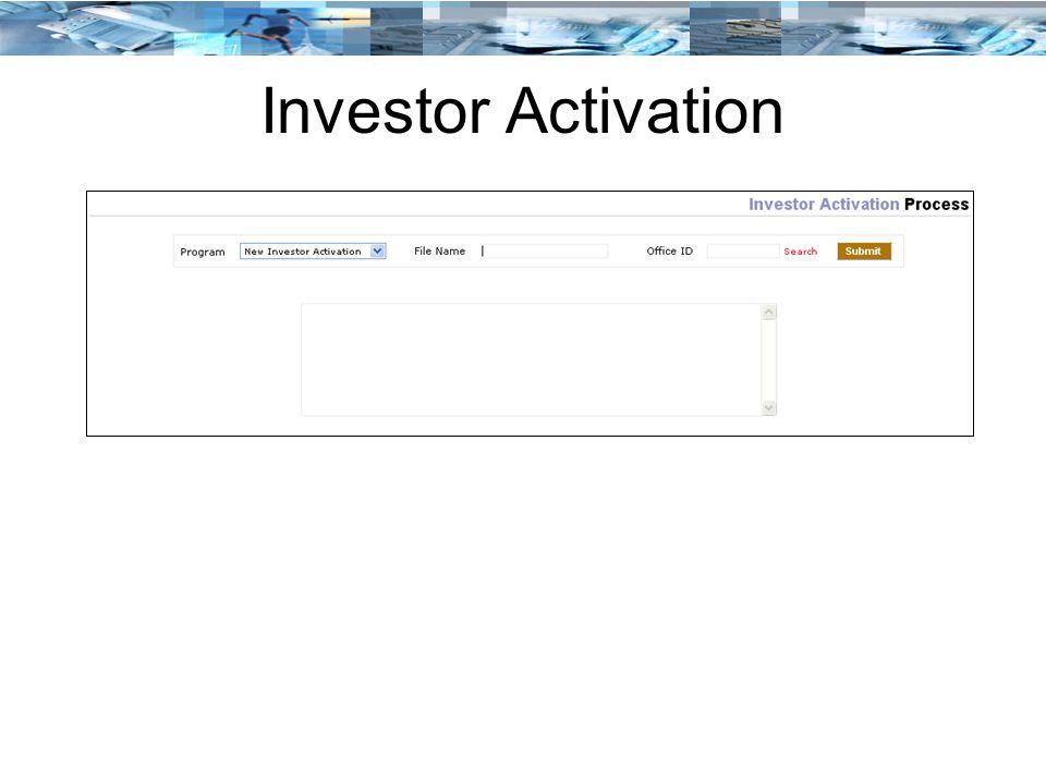 Investor Activation