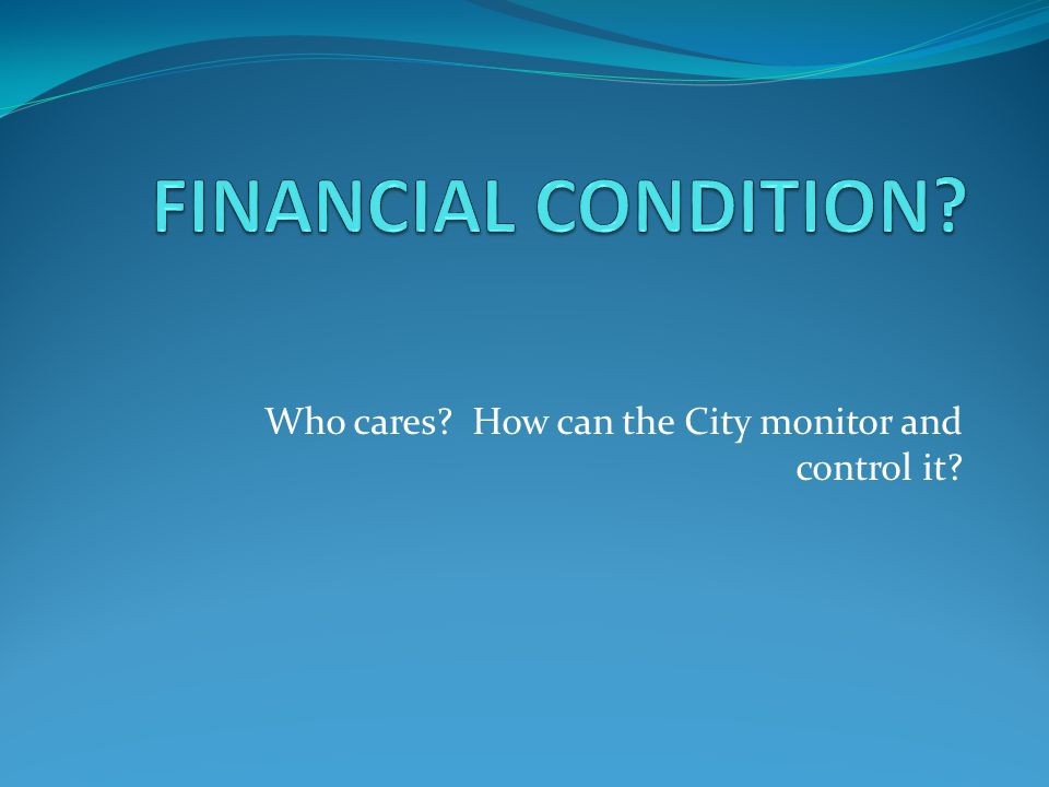 Who cares? How can the City monitor and control it?