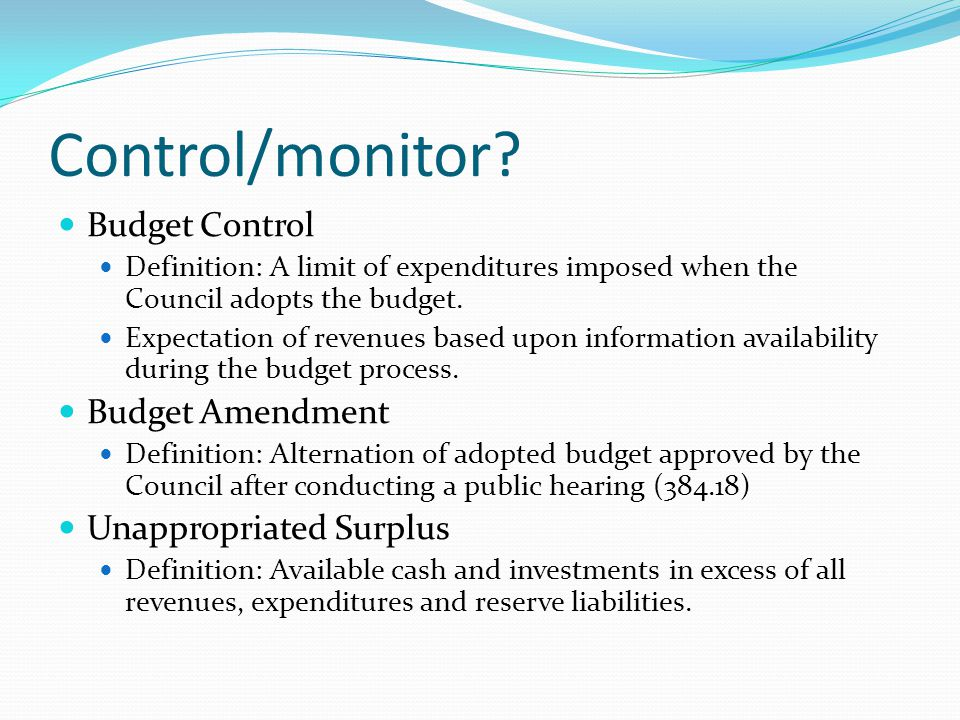 Control/monitor.