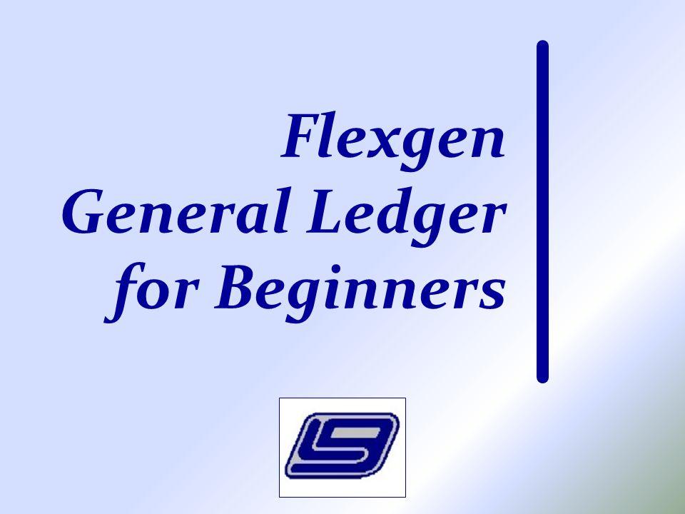 Flexgen General Ledger for Beginners