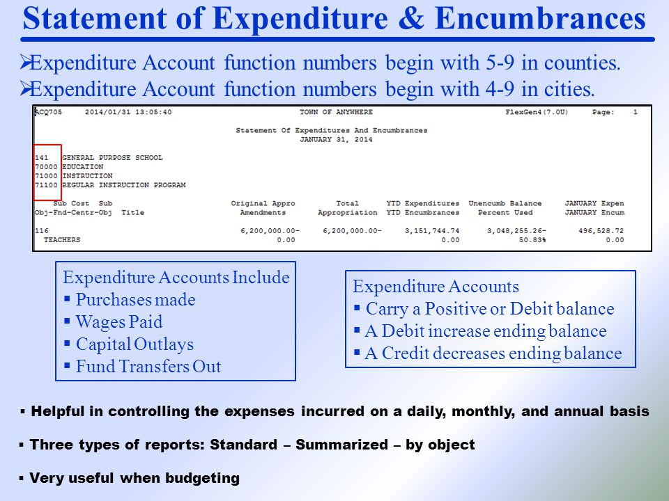  Expenditure Account function numbers begin with 5-9 in counties.