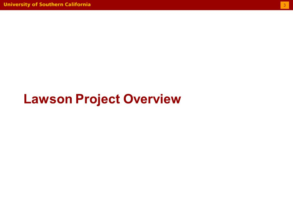 Lawson Project Overview 3