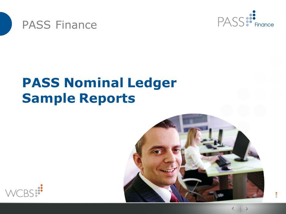 PASS Finance PASS Nominal Ledger Sample Reports