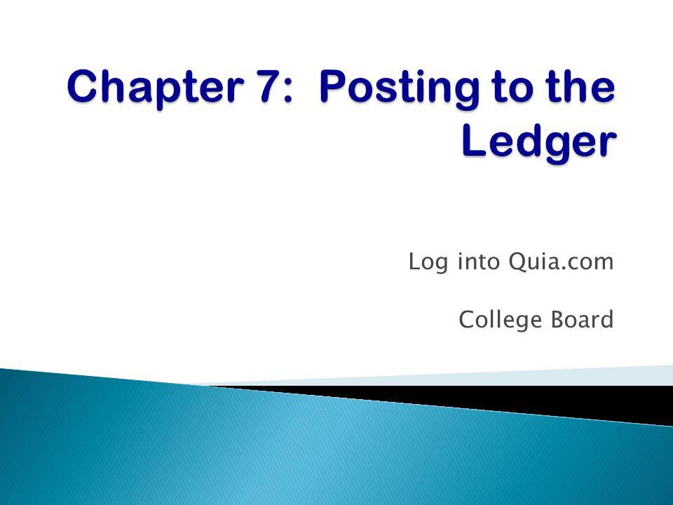 Log into Quia.com College Board