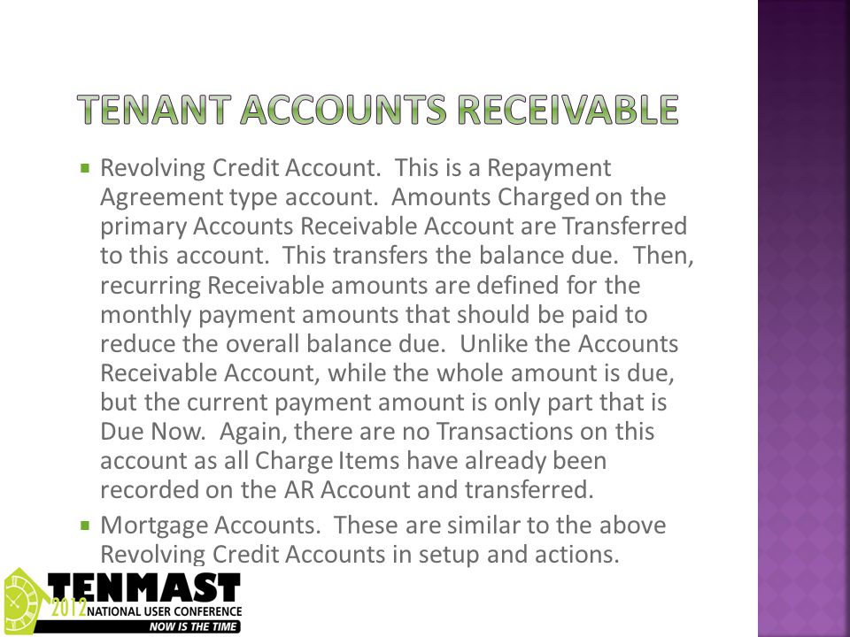  Revolving Credit Account. This is a Repayment Agreement type account.