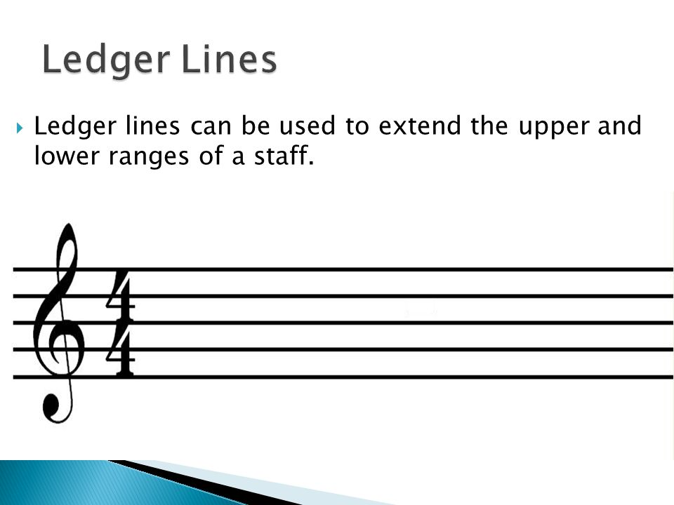 1) I can identify notes on ledger lines on the treble clef staff.