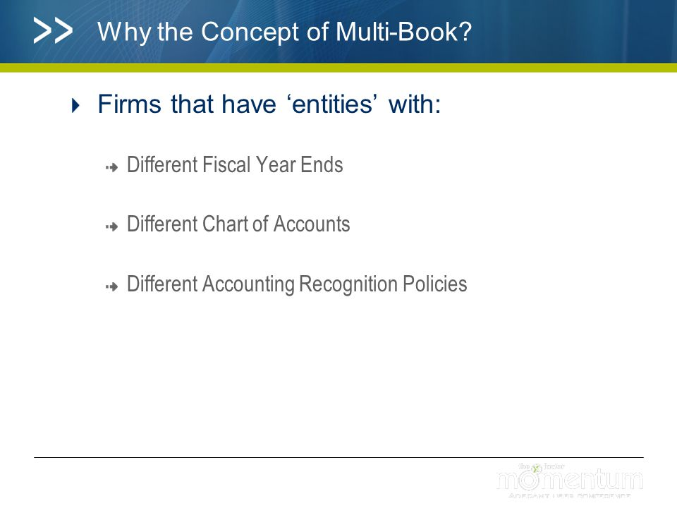 Why the Concept of Multi-Book.