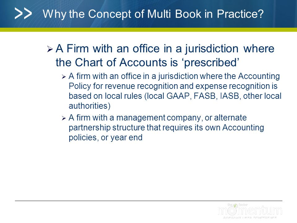 What Multi-Book G/L leverages Multi-Book G/L extends the existing features and functions within ADERANT Expert for Subledger and General Ledger Reporting The concept of the 'Ledger' has been extended to allow for the creation of an unlimited number of additional Books Traditional 'Ledger 1 and Ledger 2' functionality remain as the 'Firm Book