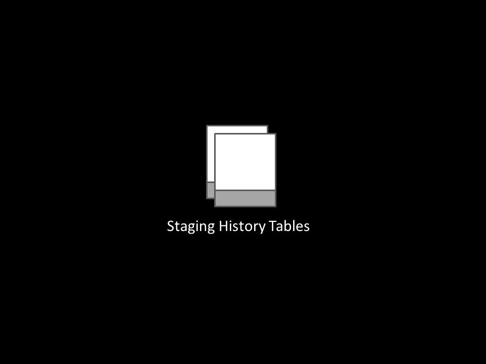 Staging History Tables