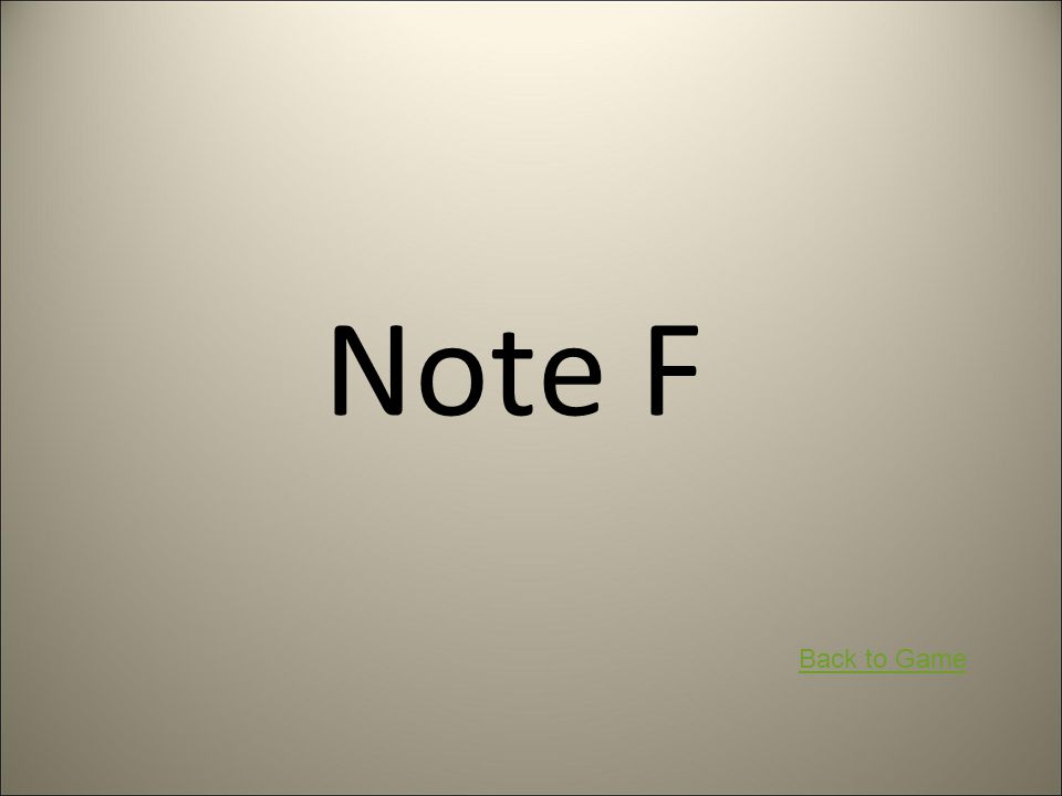 Note F Back to Game