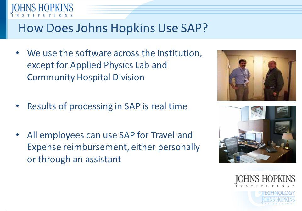 How Does Johns Hopkins Use SAP.