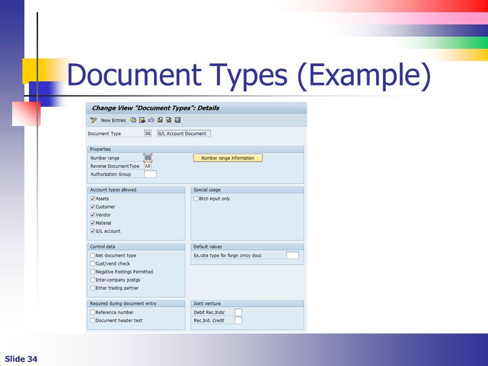 Slide 34 Document Types (Example)