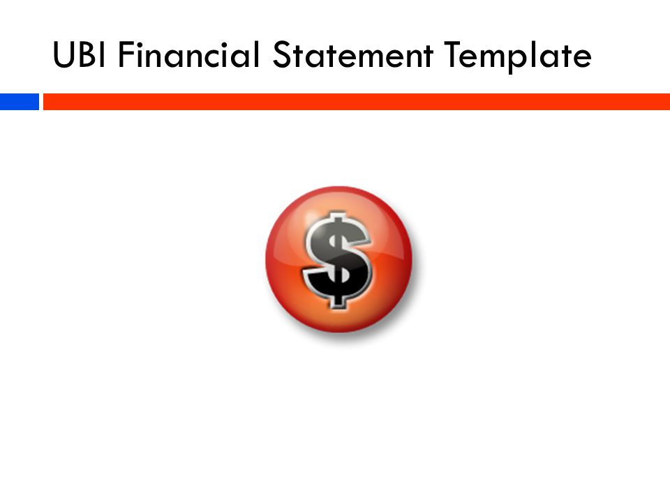 UBI Financial Statement Template