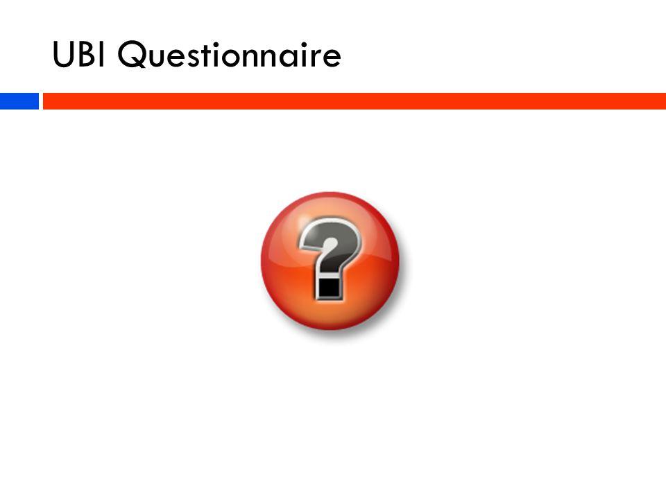 UBI Questionnaire