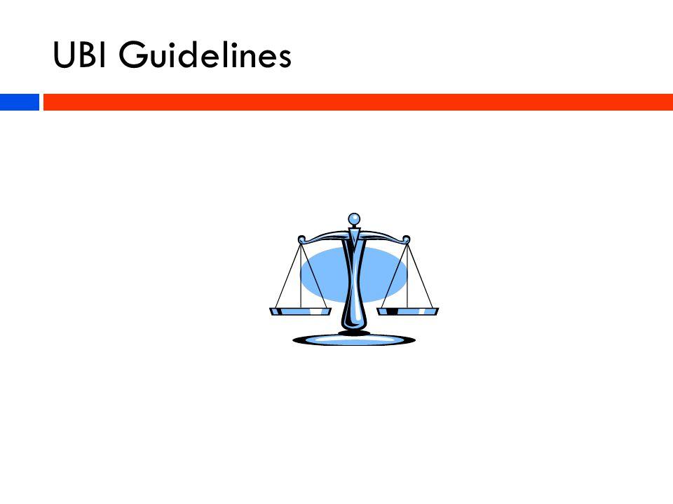UBI Guidelines