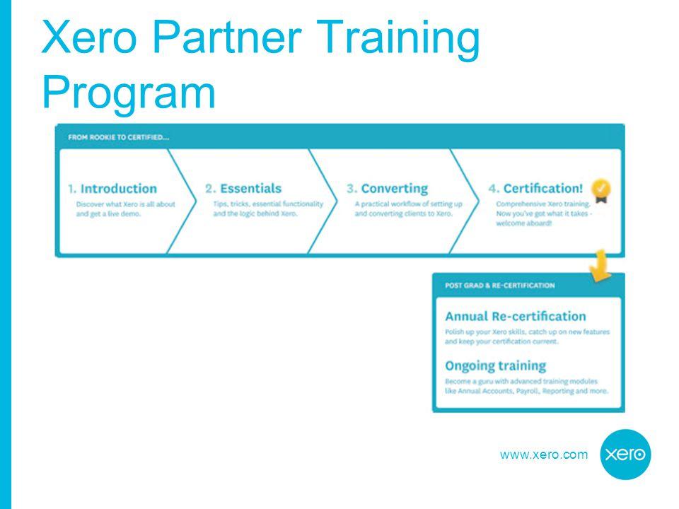 www.xero.com Xero Partner Training Program