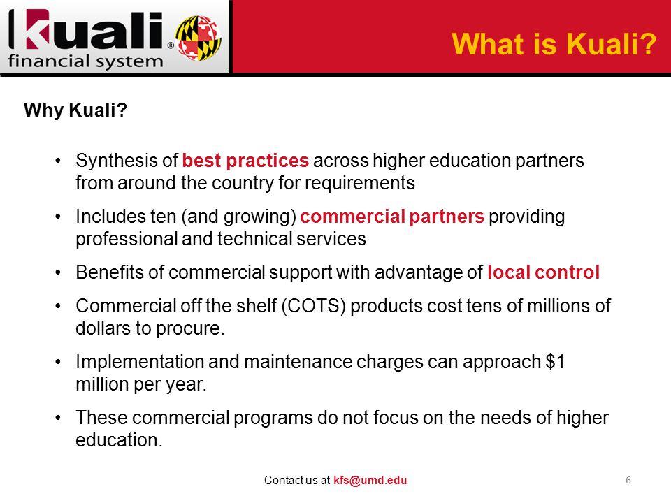 17 Contact us at kfs@umd.edu