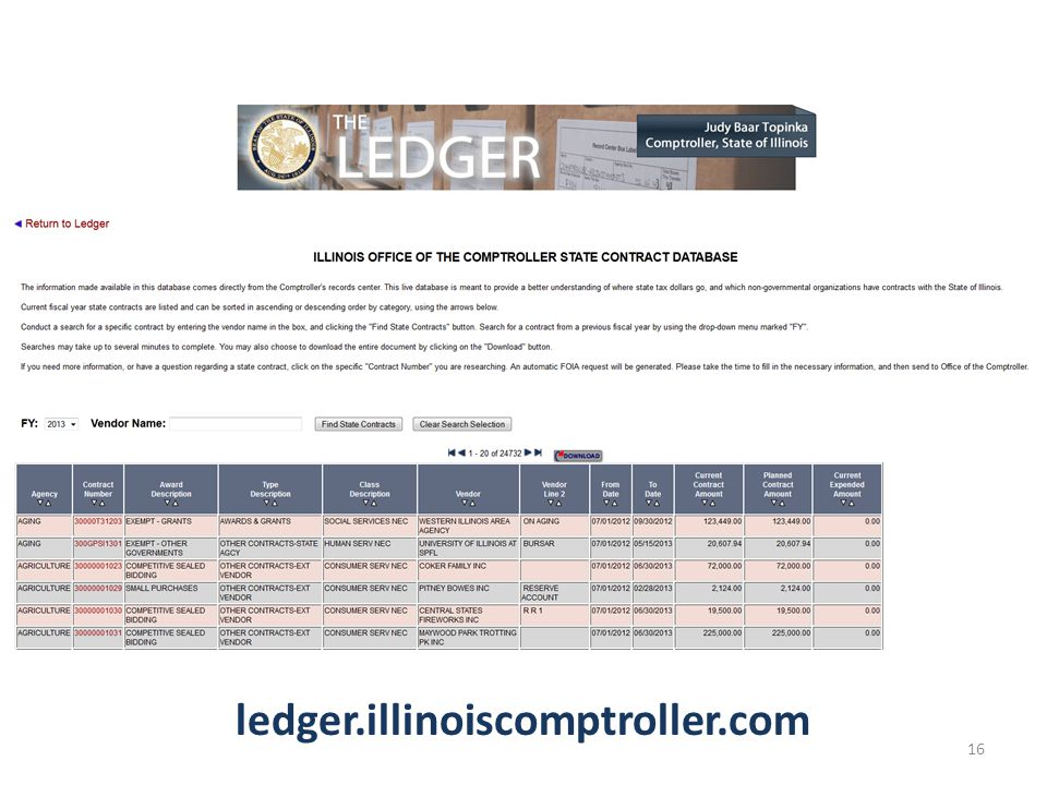 ledger.illinoiscomptroller.com 16