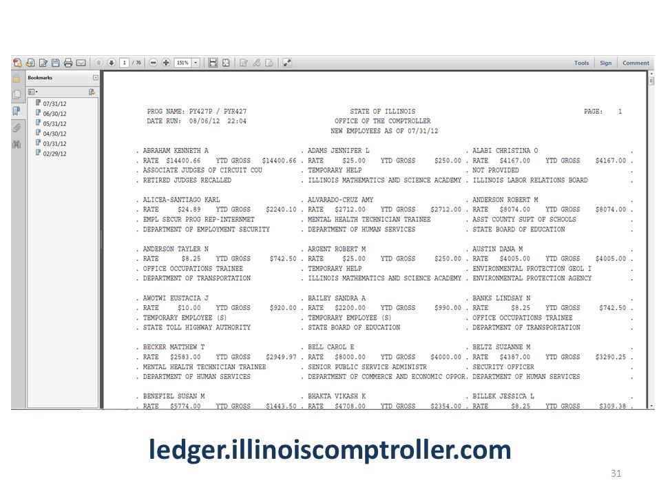 ledger.illinoiscomptroller.com 31