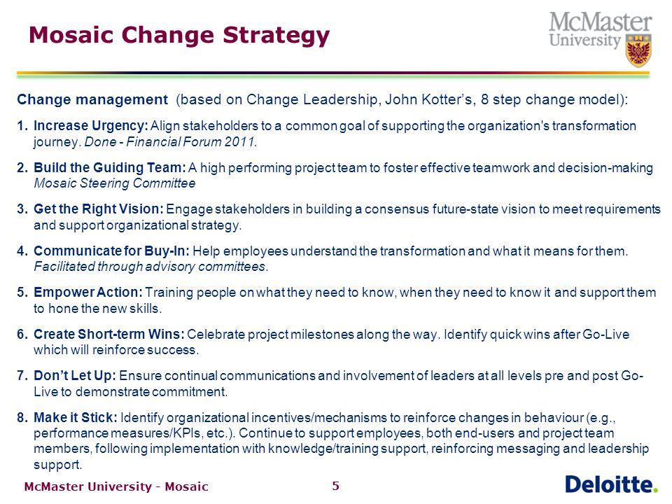 6 Mosaic Engagement Curve McMaster University - Mosaic