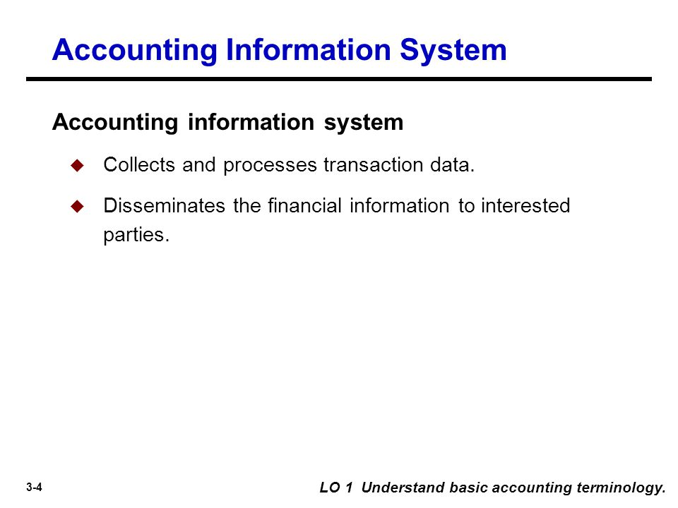 3-115 LO 12 Compare the accounting information systems under GAAP and IFRS.