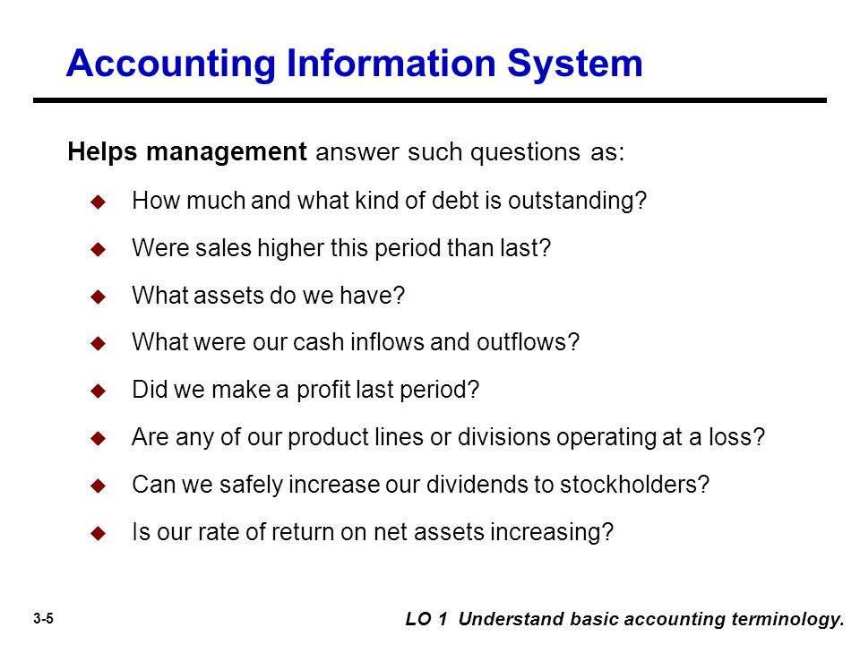 3-26 The Accounting Cycle LO 3 Identify steps in the accounting cycle.