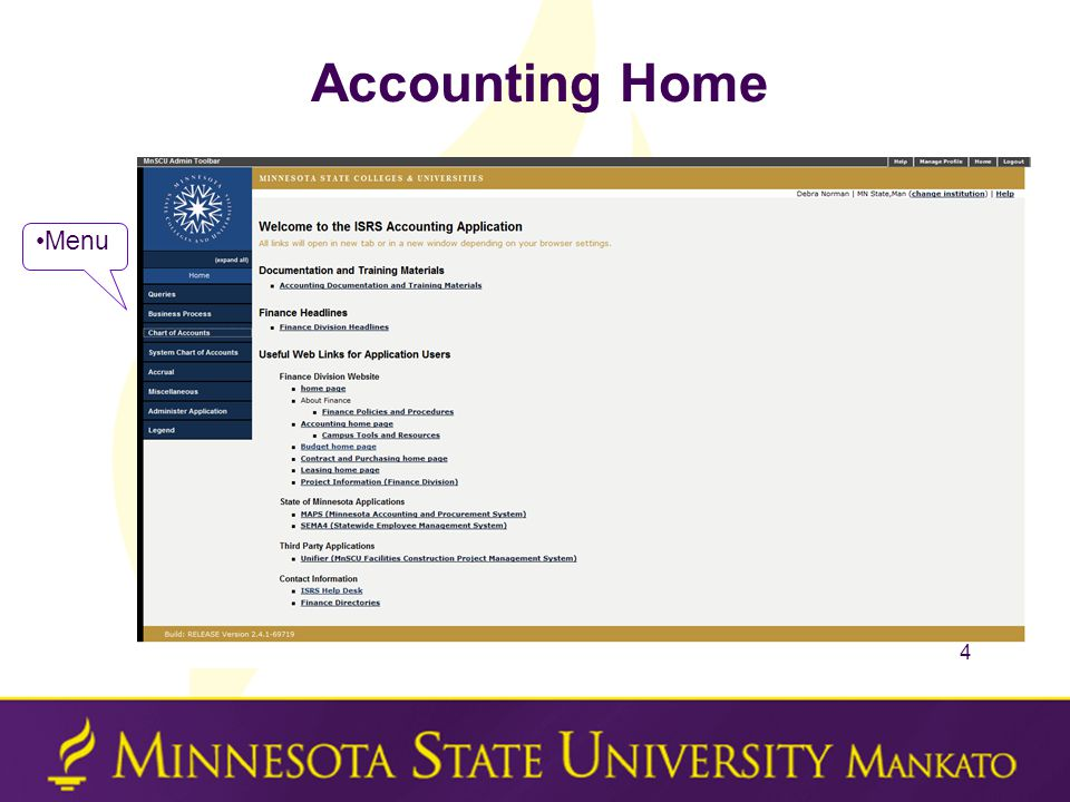 Accounting Home 4 Menu