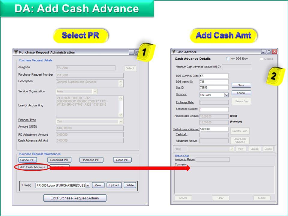 14 PR=f Financial Management Screen PR = Purchase Request