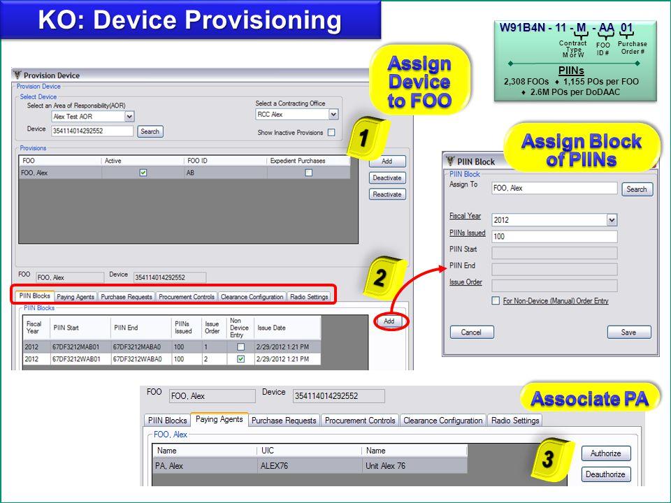 16 Add KO: Optional Provisioning Modifications