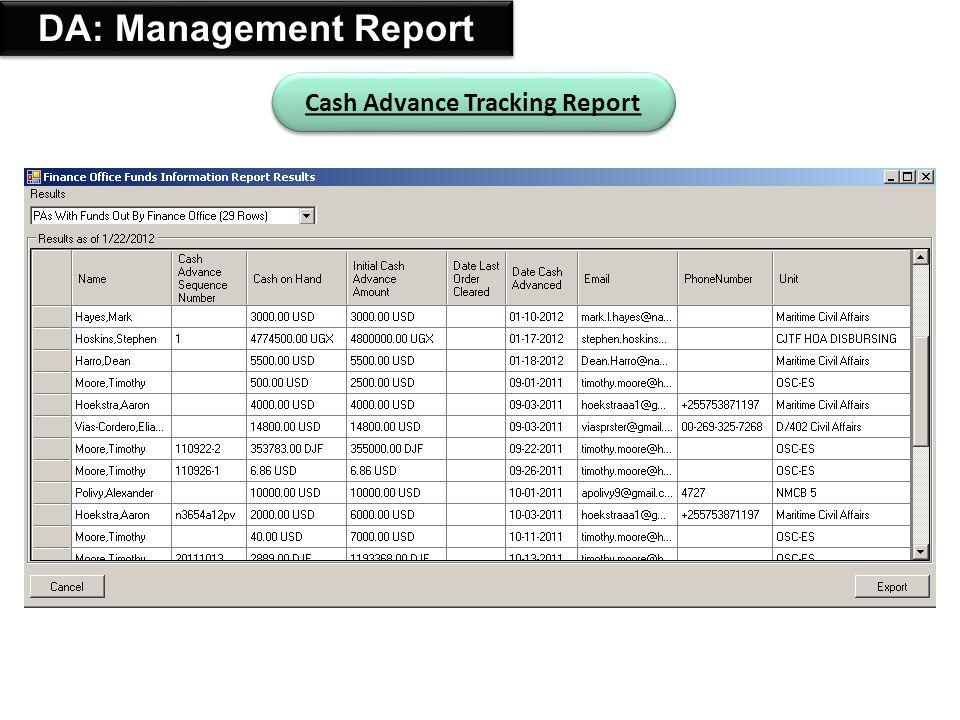 36 Add FOO/PA: 3in1 Tool Device Reports