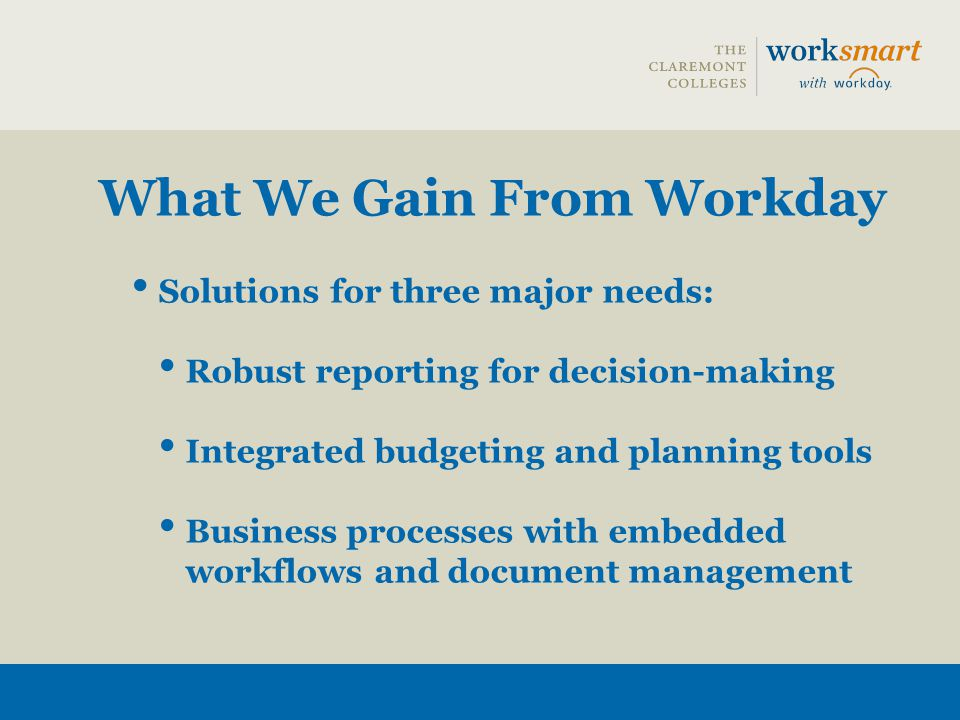 Guiding Principles 1.Use Workday business processes as delivered 2.