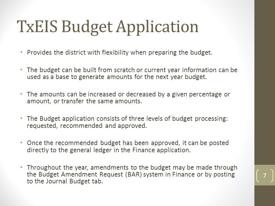 Budget Years There are three years worth of data being kept at any one time.