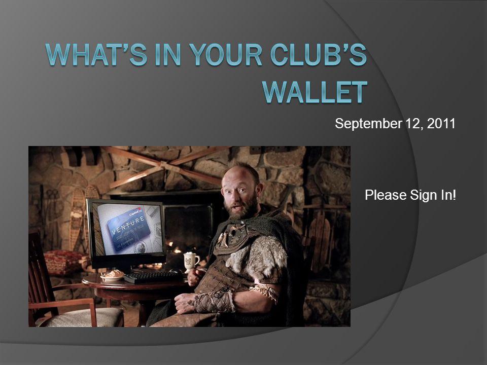 September 12, 2011 Please Sign In!