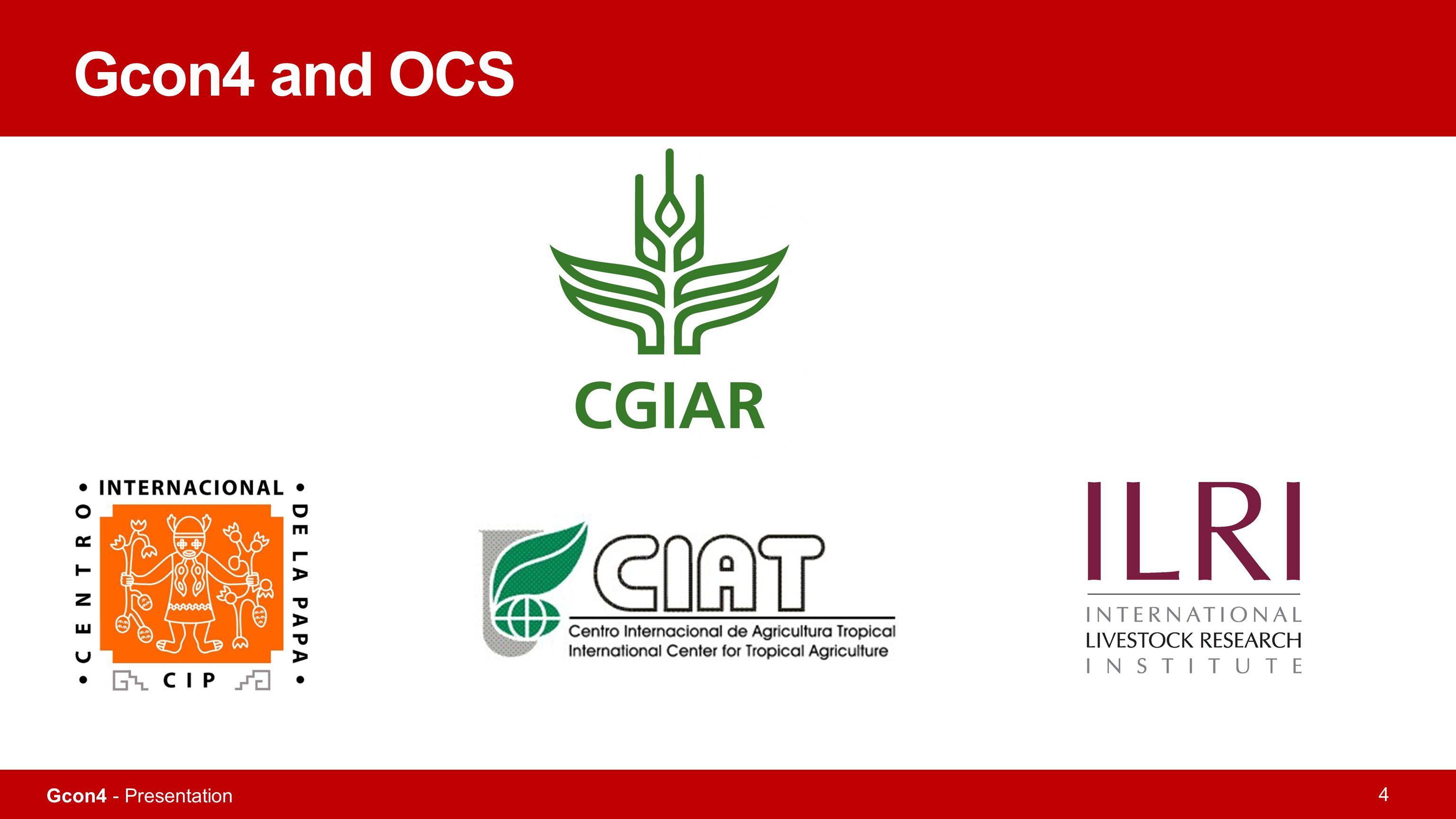 Gcon4 - Presentation 4 Gcon4 and OCS