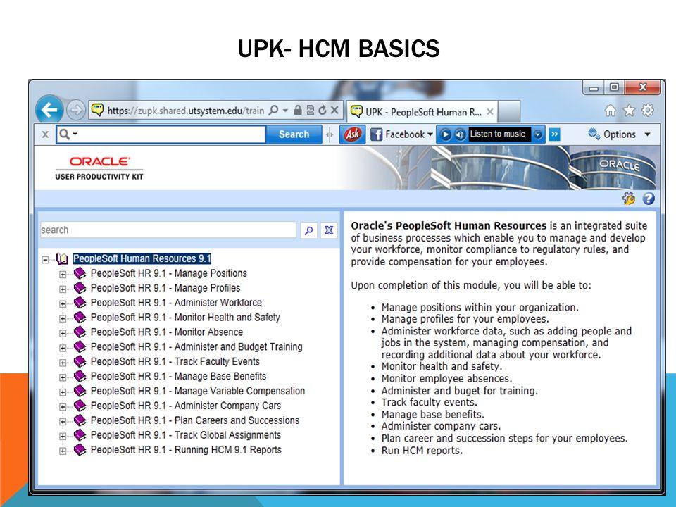 UPK- HCM BASICS