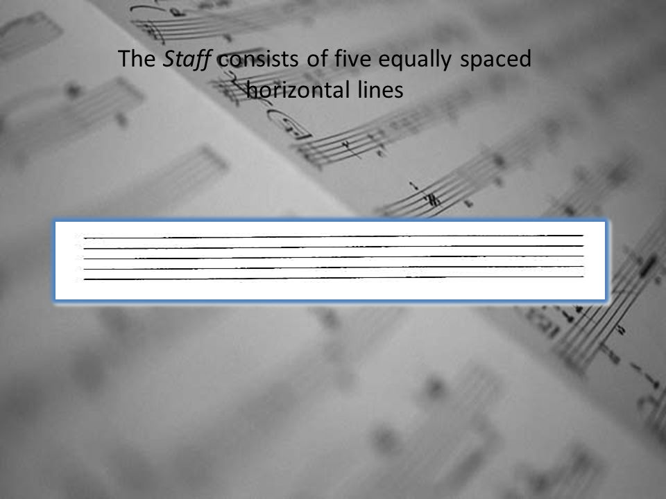 The Staff consists of five equally spaced horizontal lines