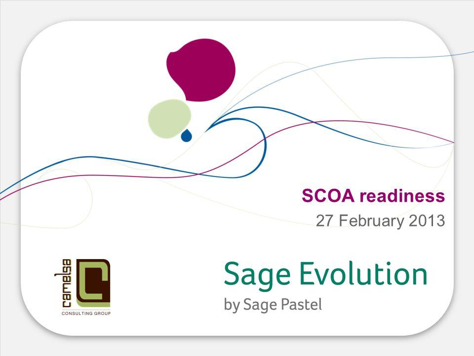 SCOA readiness 27 February 2013