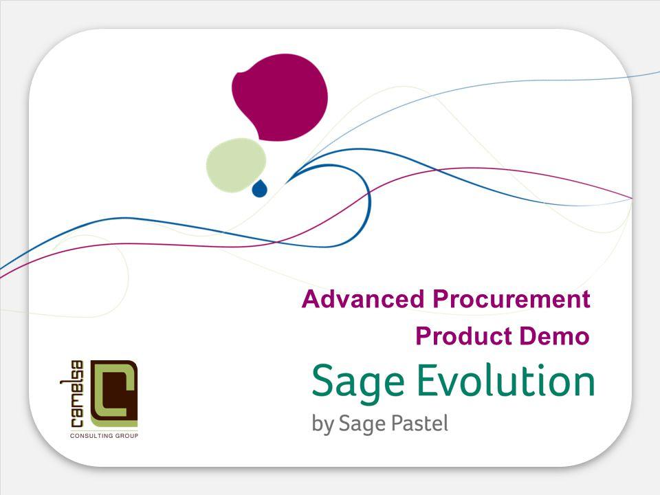 Advanced Procurement Product Demo
