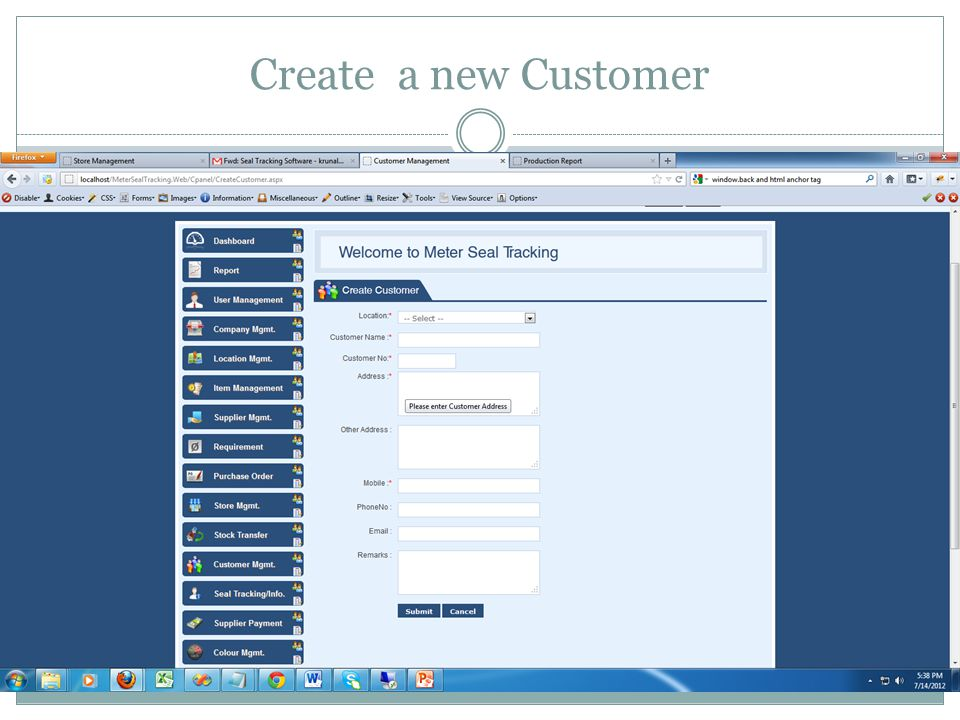 Create a new Customer