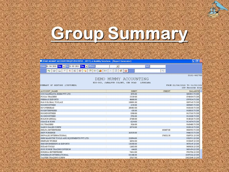 Group Summary