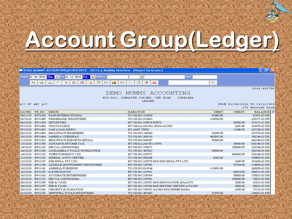 Account Group(Ledger)