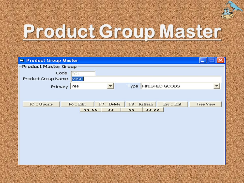 Product Group Master