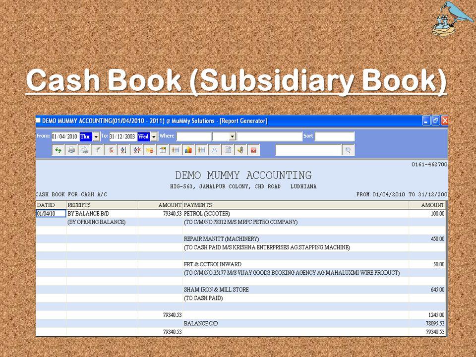 Cash Book (Subsidiary Book)