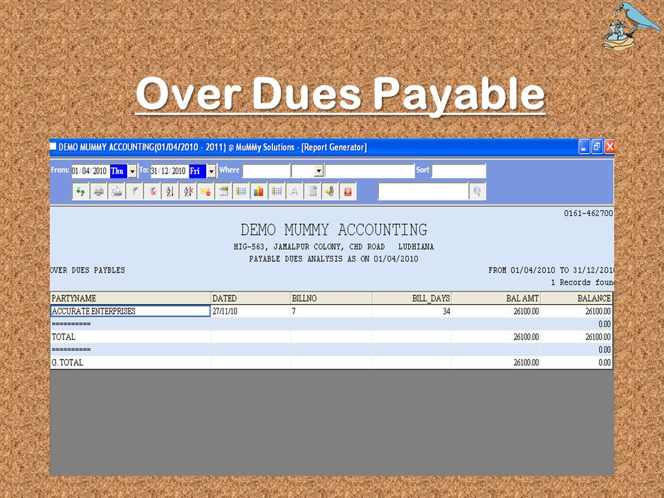 Over Dues Payable