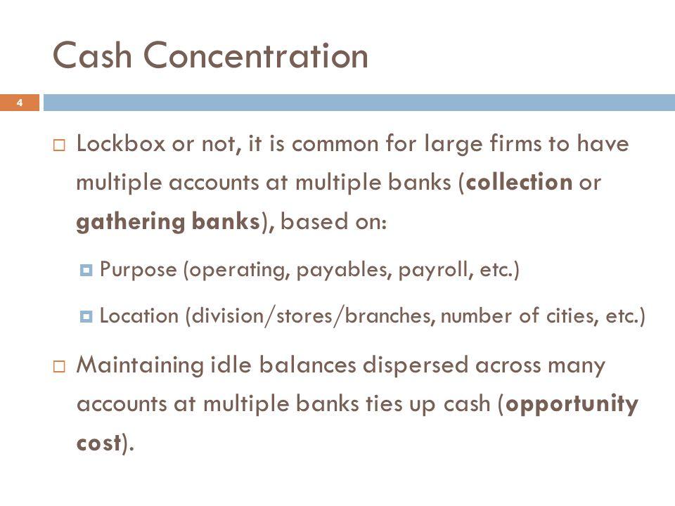 Cash Concentration Timeline 5
