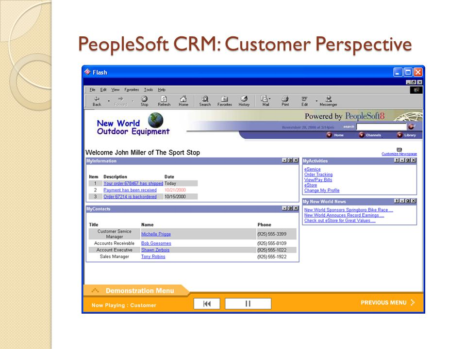 PeopleSoft CRM: Customer Perspective